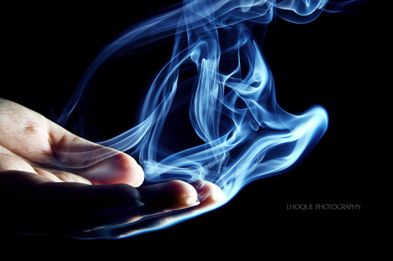 Blue Smoke from hand | Tutorial: How to photograph and Edit Smoke