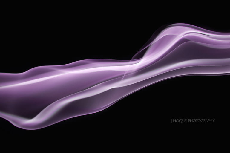 Tutorial: How to Edit Smoke in Photoshop | Purple Smoke Photo on black background