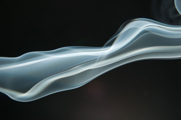 Tutorial: How to Edit Smoke Photos in Photoshop | Demo Raw Image of smoke on black background