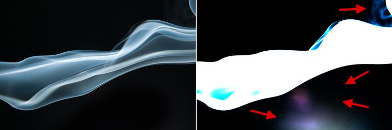 Photoshop For Beginners: How to process smoke photos | Blemishes Highlighted