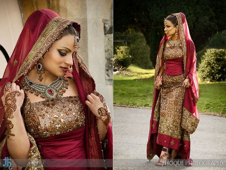 Traditional Bride in Red LenghaBridal Model in Red lengha | Asian documentary wedding photography London 0435