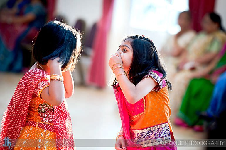 Grooms nieces sharing secret | Saanji | Sanjay Gohil | Indian Wedding Photography London | 0177