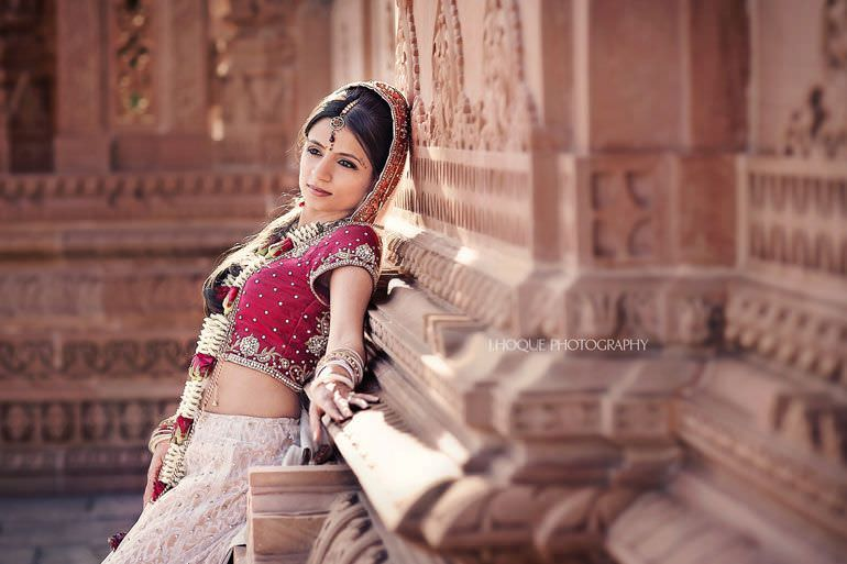 Bride portrait at Oshwal Centre | Asian Wedding Sofitel T5 Heathrow 618