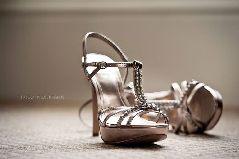 Brides shoes at Hendon Hall Hotel | Asian Documentary Wedding Photographer London | 034