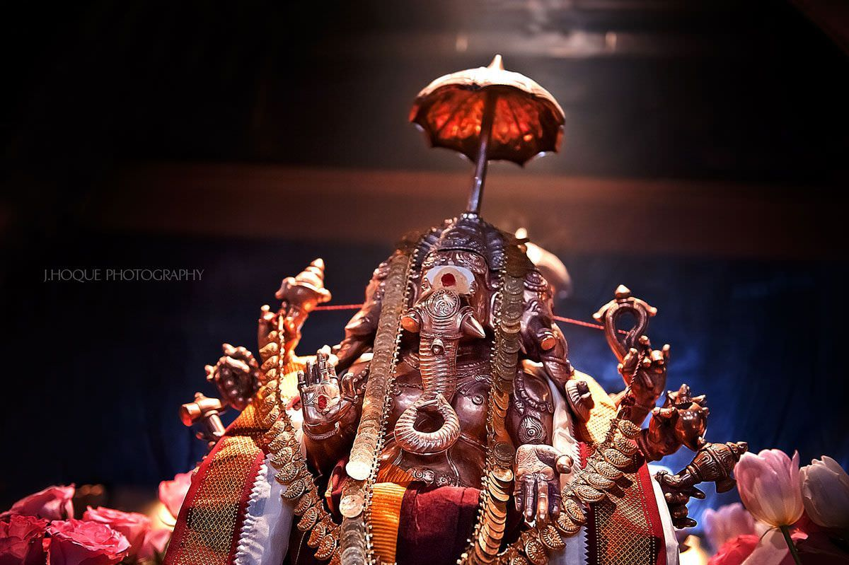 Ganesha statue in Shree Ghanapathy Temple | London Hindu Wedding Photographer