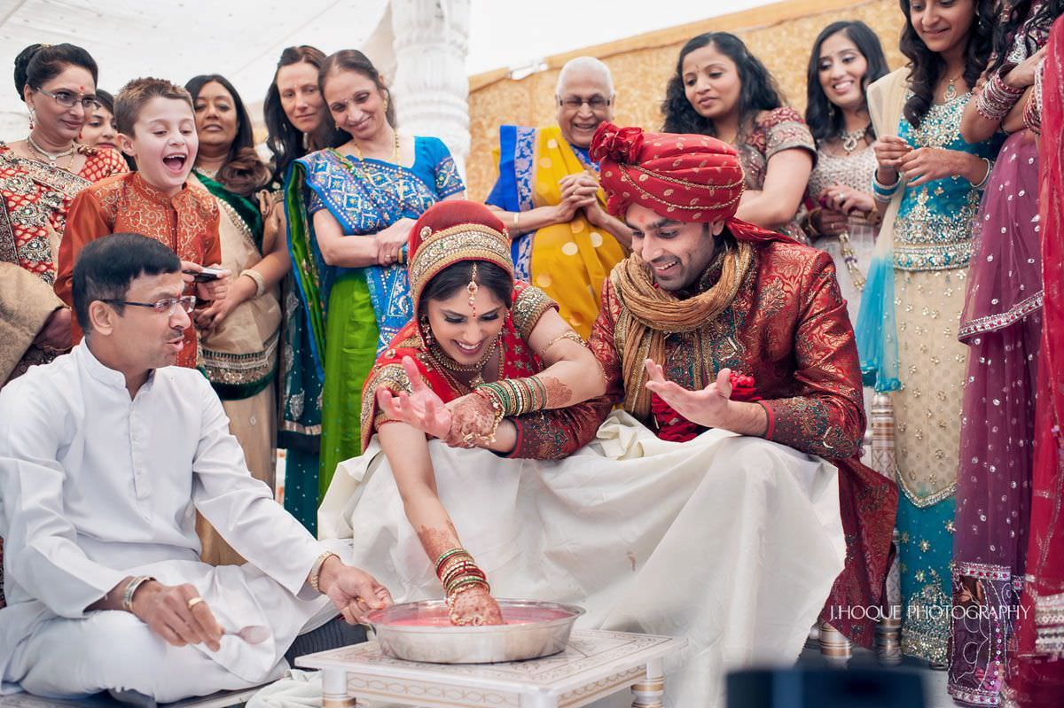 Aeki Beki - Indian wedding game | Asian Wedding Photography Parklands Quendon Hall