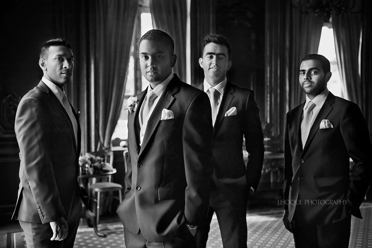 Groom and groomsmen Portrait | Luxury Tamil Wedding photography at Cliveden House Berkshire