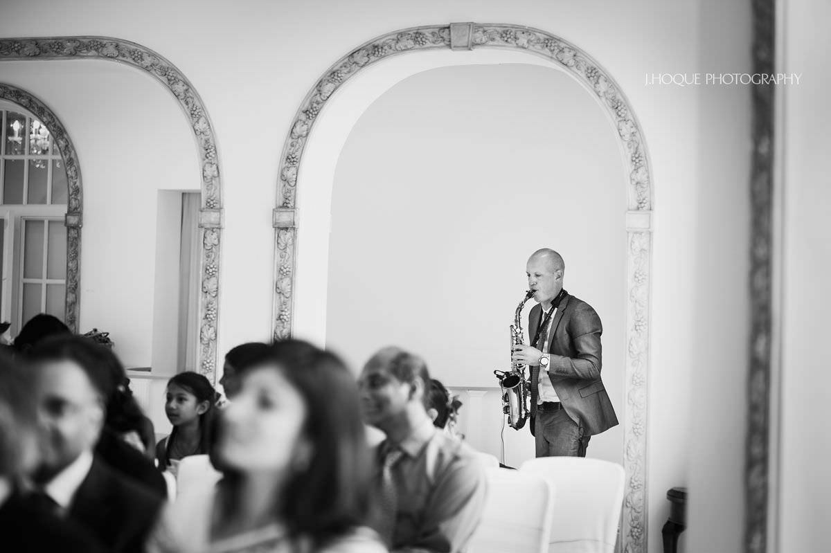 Saxophone player | Tamil Wedding at Northbrook Park Surrey