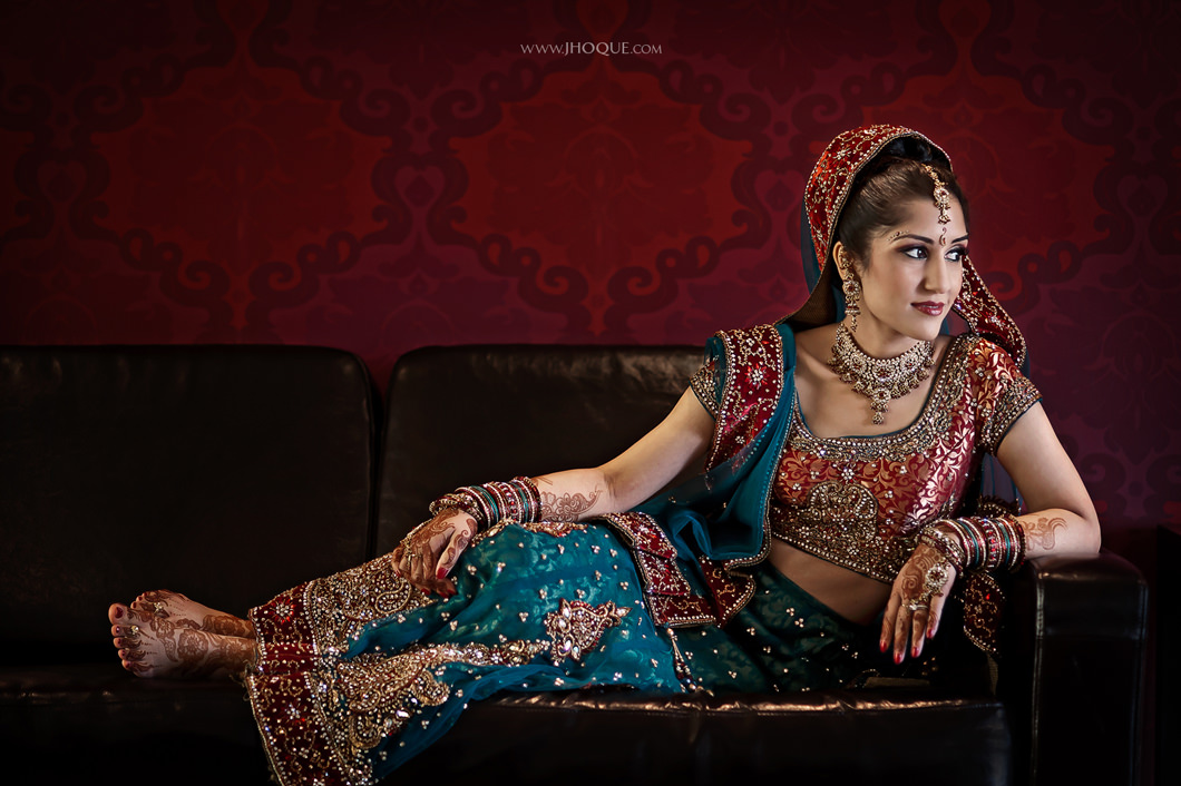 Bridal Portrait - Indian Wedding at Alrewas Hayes – Shital & Jay