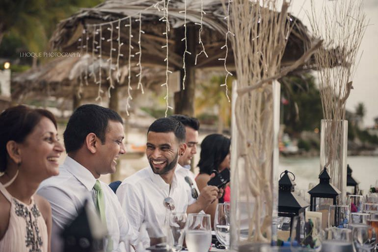 Wedding breakfast on Blue Waters beach - Caribbean Destination Wedding Antigua | CIV-0856