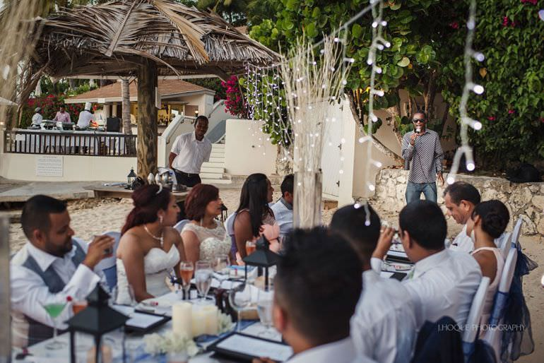 Wedding breakfast on Blue Waters beach - Caribbean Destination Wedding Antigua | CIV-0869