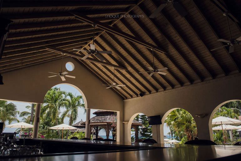 Blue Waters Hotel Lobby - Asian Destination Wedding Photographer Antigua | RAN-382