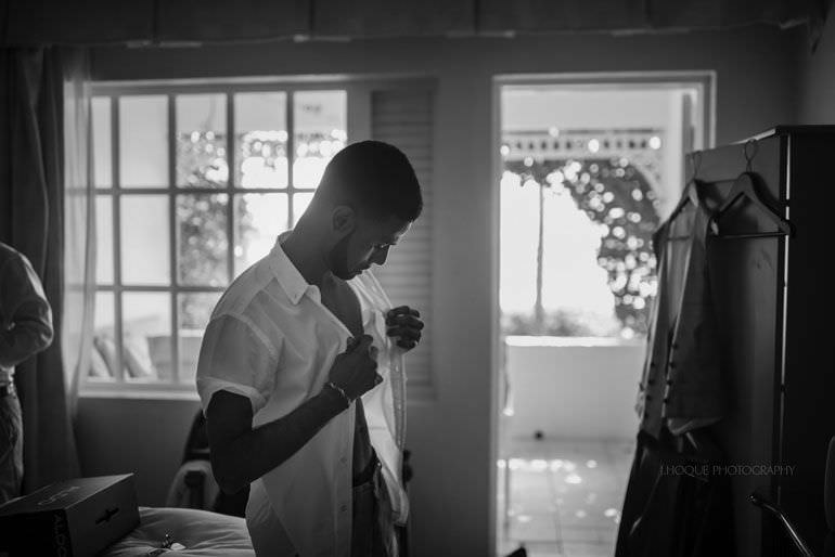 Grooms brother getting ready - Caribbean Destination Wedding: Blue Waters Resort Antigua | CIV-0107