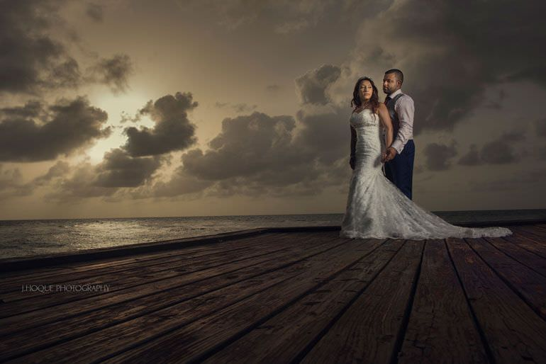 Sunset at Rock Cottage Blue Waters Resort Antigua Wedding Photographer | Profoto B1 | PW-059