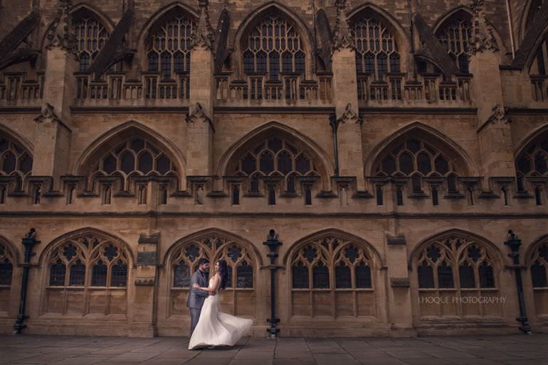 Pre Wedding Shoot at Bath Abbey | Somerset Asian Wedding Photographer