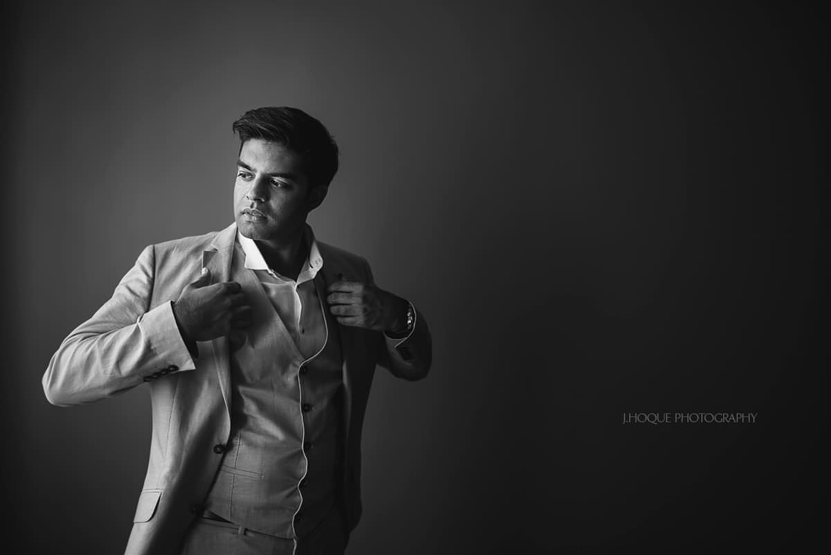 Groom portrait using window light | Asian Destination Wedding Photography | Prague Pre Wedding