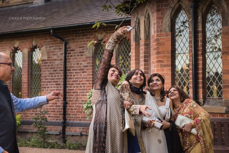 Selfie time | Sangeet at The Monastery | Indian Wedding Photographer Manchester | 063