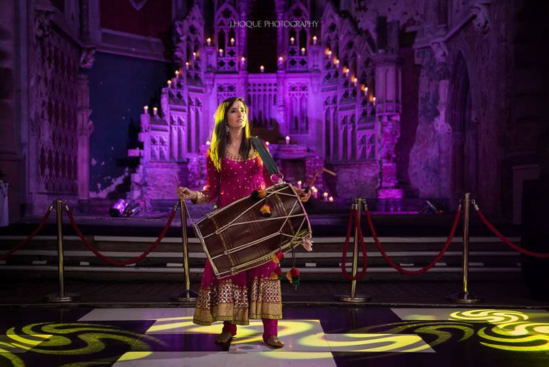 Hindu Wedding Photographer Manchester | Sangeet Night | The Monastery | 390