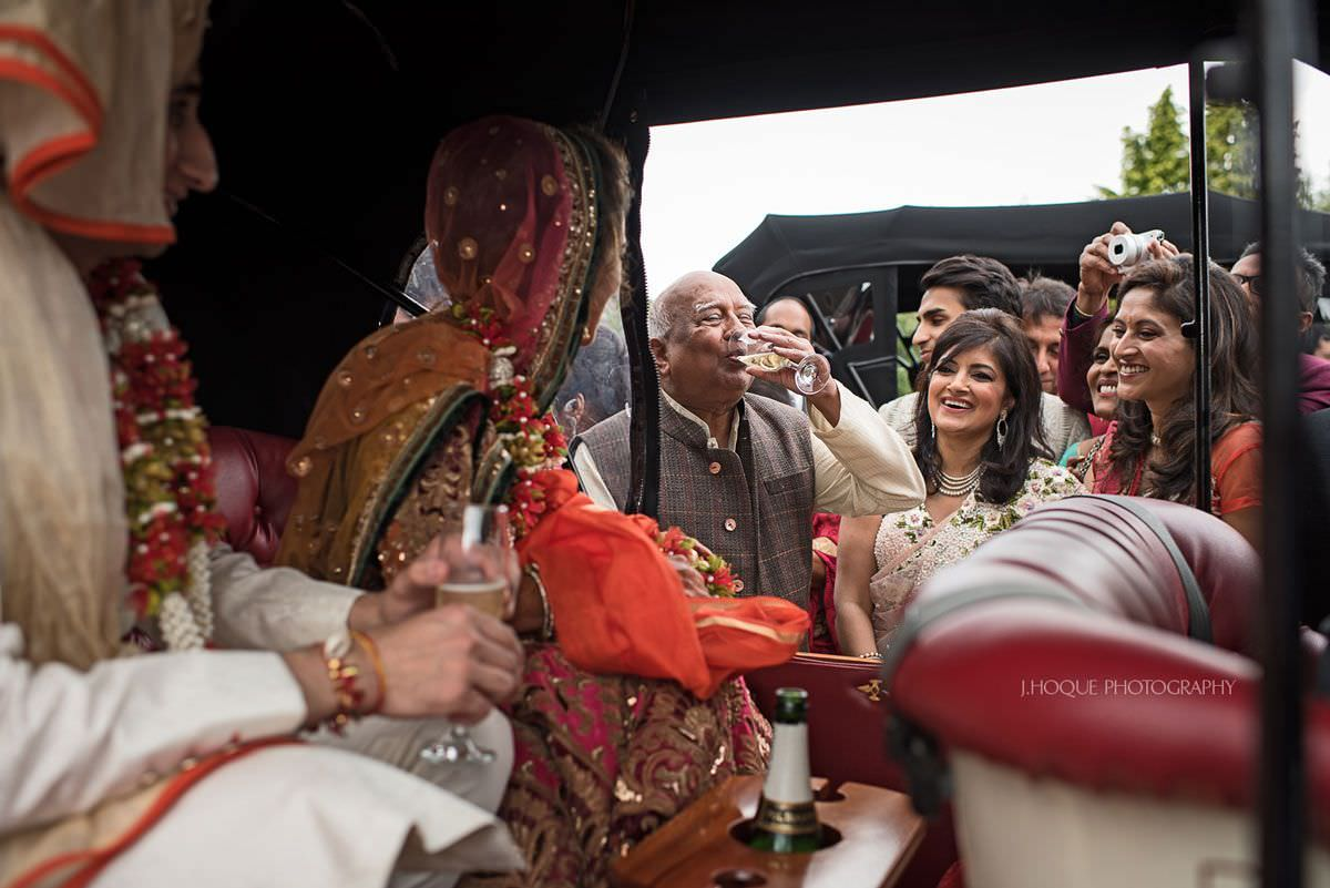 Send-off | Thornton Manor Indian wedding | Cheshire Asian Wedding Photographer