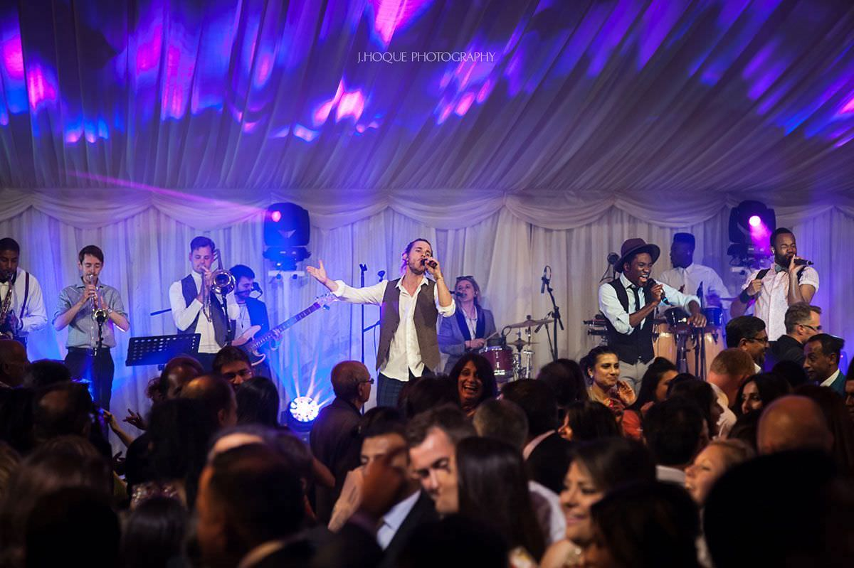 Salut Band | Thornton Manor Indian Wedding Photographer Cheshire