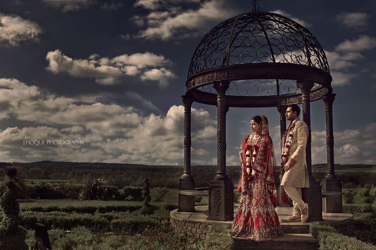 Goosedale Gazebo Portrait | Indian Wedding Photographer Nottingham
