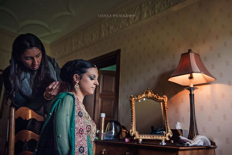 Bride getting ready | Hever Castle Muslim Wedding | Kent Wedding Photographer | 0058