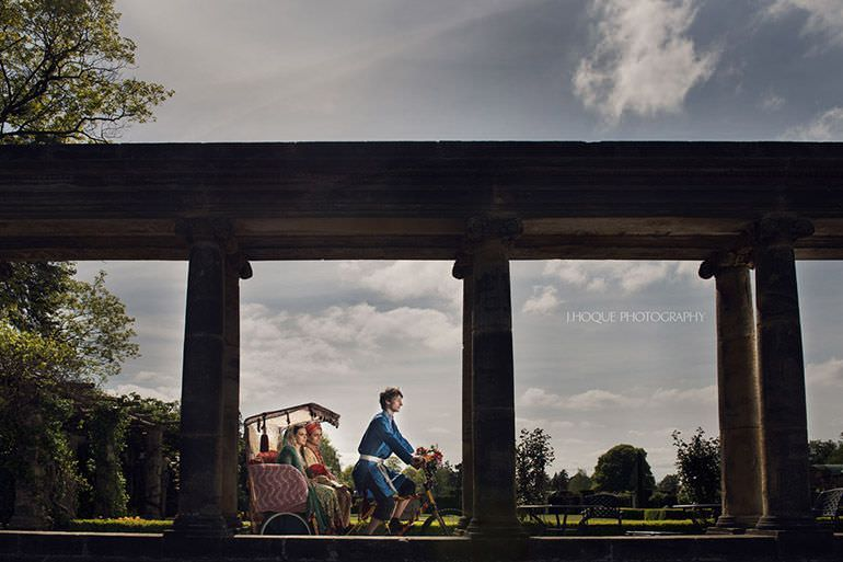 Muslim couple on Rickshaw at The Loggia | Profoto B1 | Asian Wedding Photography Kent | Hever Castle | 0178