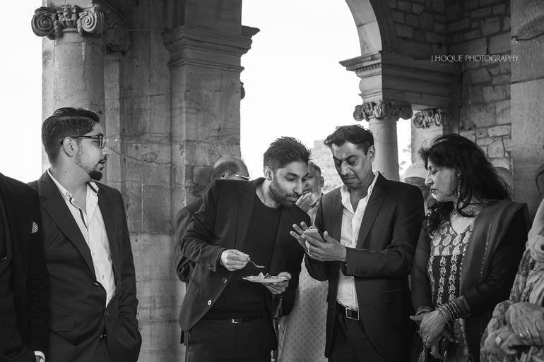 Muslim Documentary Wedding Photography Kent | Hever Castle | 0459-BW