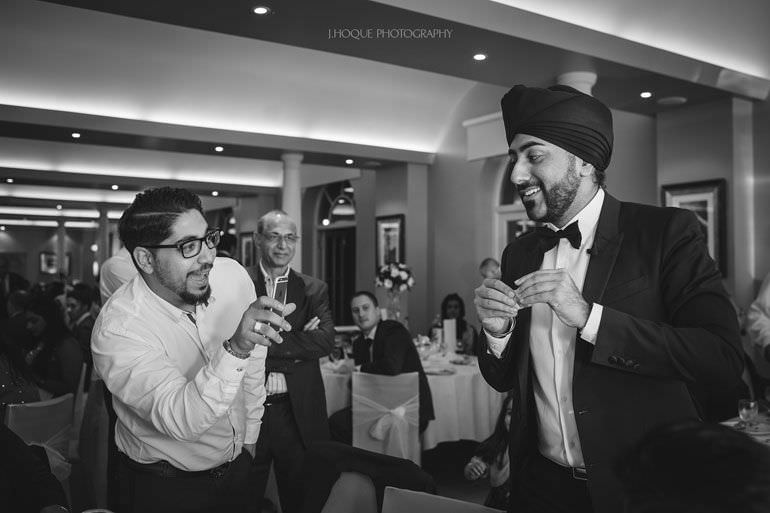 Magic Singh | Asian Documentary Wedding Photographer Kent | Hever Castle | 0834-BW