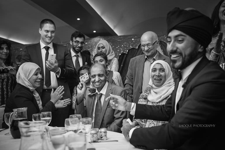 Magic Singh | Asian Documentary Wedding Photographer Kent | Hever Castle | 0889-BW