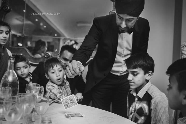 Magic Singh | Asian Documentary Wedding Photographer Kent | Hever Castle | 1041-BW