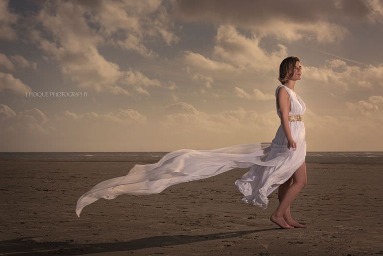 Beach Photography Lighting Tips | Profoto B1 Single Light Setup | Sussex Asian Wedding Photographer | 1268