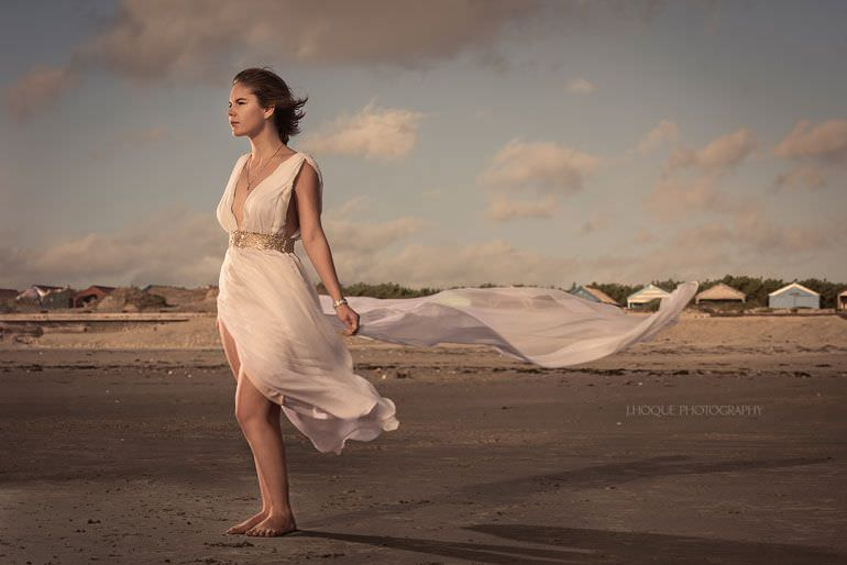 Beach Photography Lighting Tips | Profoto B1 Single Light Setup | Sussex Asian Wedding Photographer | 1295