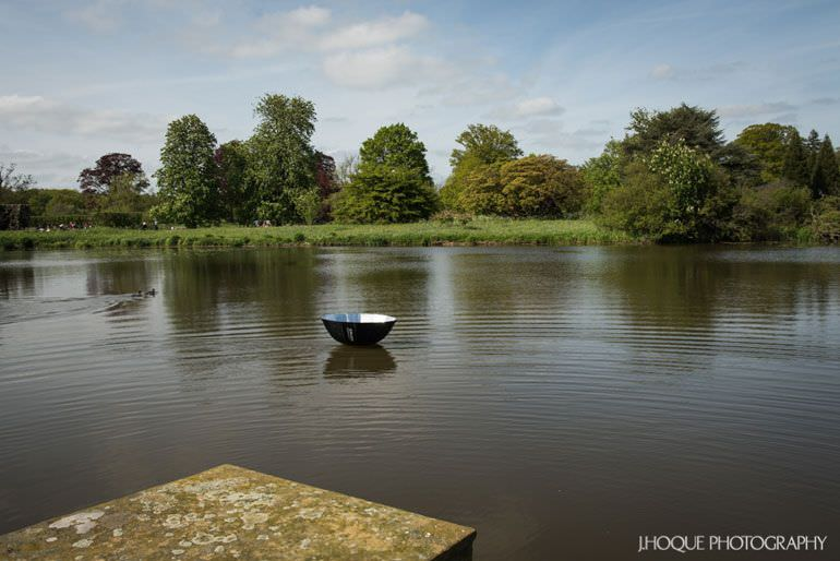 Profoto Umbrella in Hever Lake | Asian Documentary Wedding Photographer Kent | Hever Castle | 2239