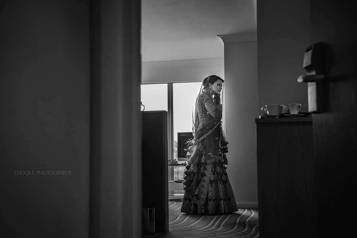 Bride getting ready | Indian Wedding Photographer at Cotswold Water Park Four Pillars Hotel | Gloucestershire Wedding Photographer