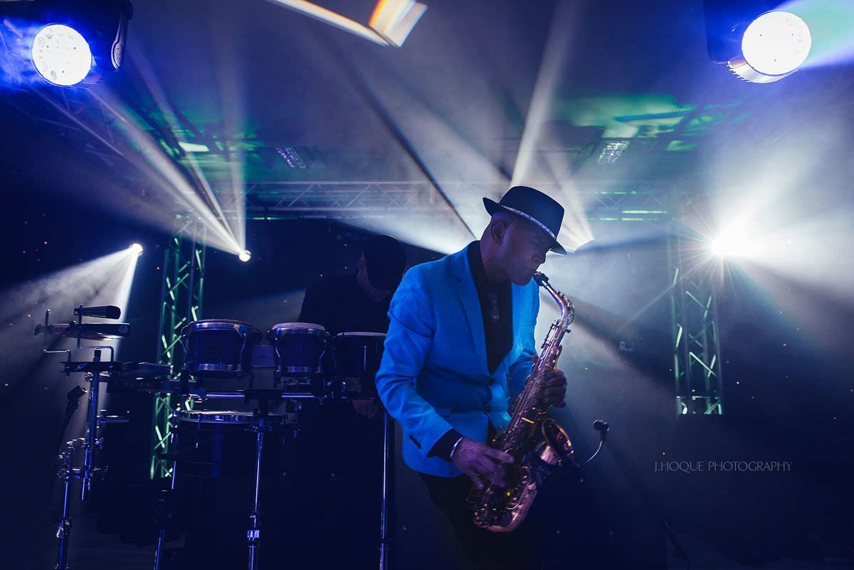 Trav Saxingh Panesar | Saxophone Player | Indian Wedding at Cotswold Water Park Four Pillars Hotel