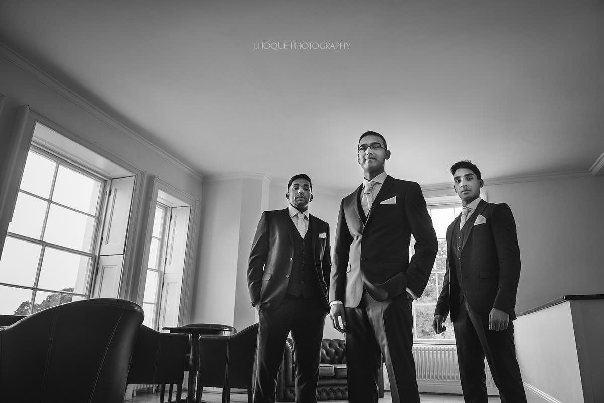 Tamil Groom & groomsmen portrait | Pembroke Lodge Wedding Photographer Richmond Surrey