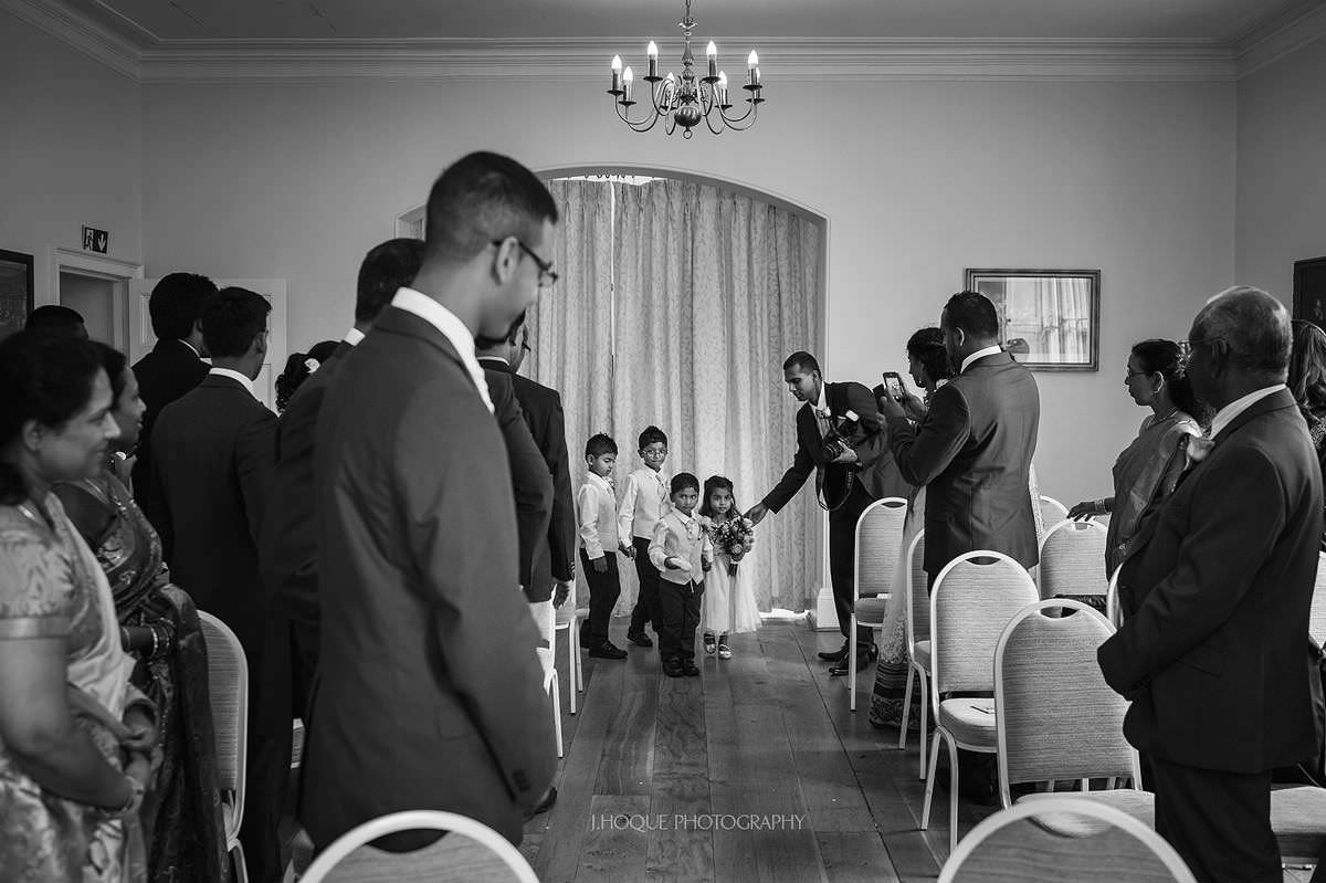 Tamil groom waiting for bride | Pembroke Lodge Wedding Photographer Surrey | 12