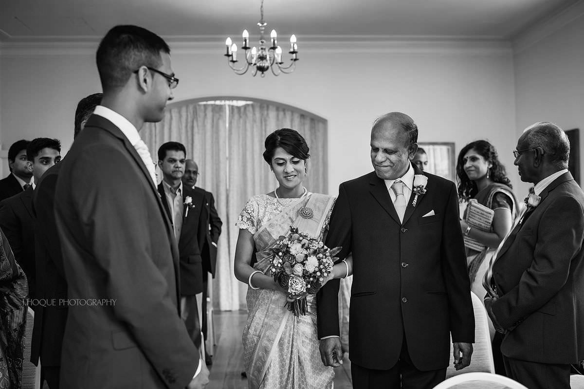 Father giving away bride | Pembroke Lodge Wedding Photographer Surrey | 13