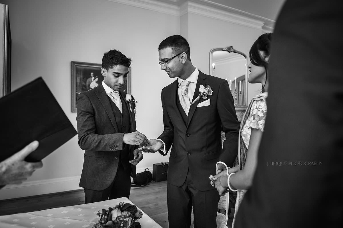 Best mans gives ring | Pembroke Lodge Wedding Photographer Surrey | 15