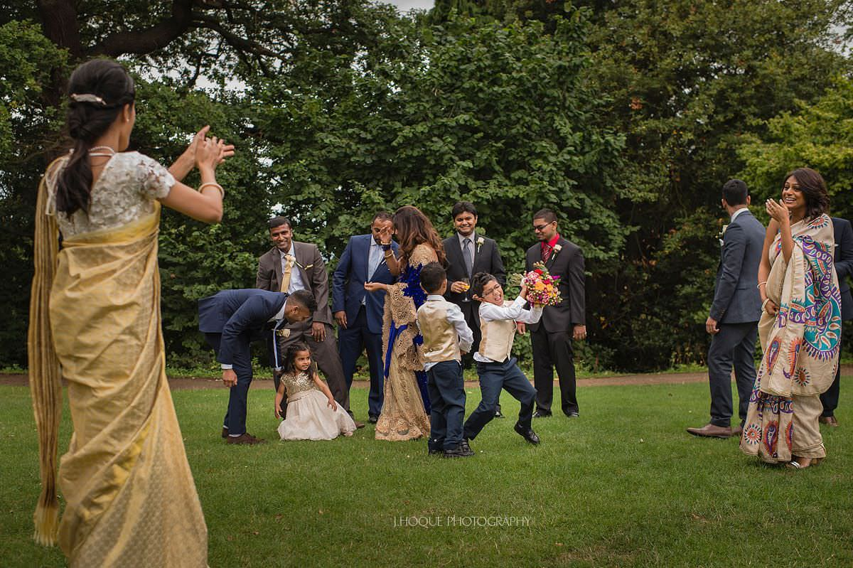 Brides nephew gets the bouquet | Pembroke Lodge Tamil Wedding Surrey | 22