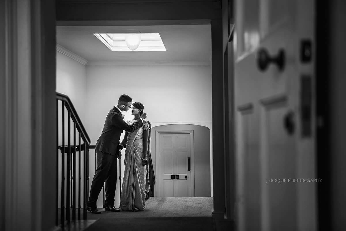 Tamil bride & groom waiting to make entrance | Surrey Documentary Wedding Photography Pembroke Lodge | 23