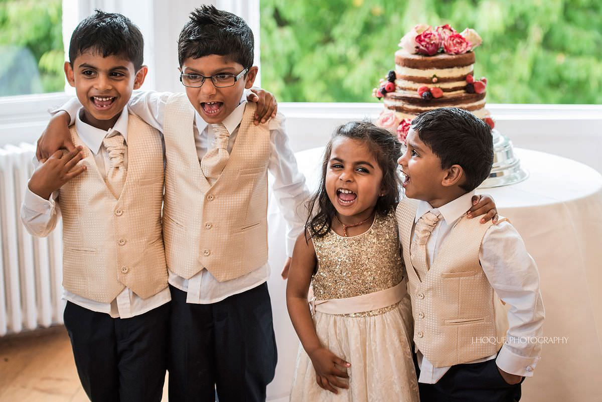 Brides nephews and niece giving a speech | Surrey Tamil Wedding Photographer Pembroke Lodge | 29