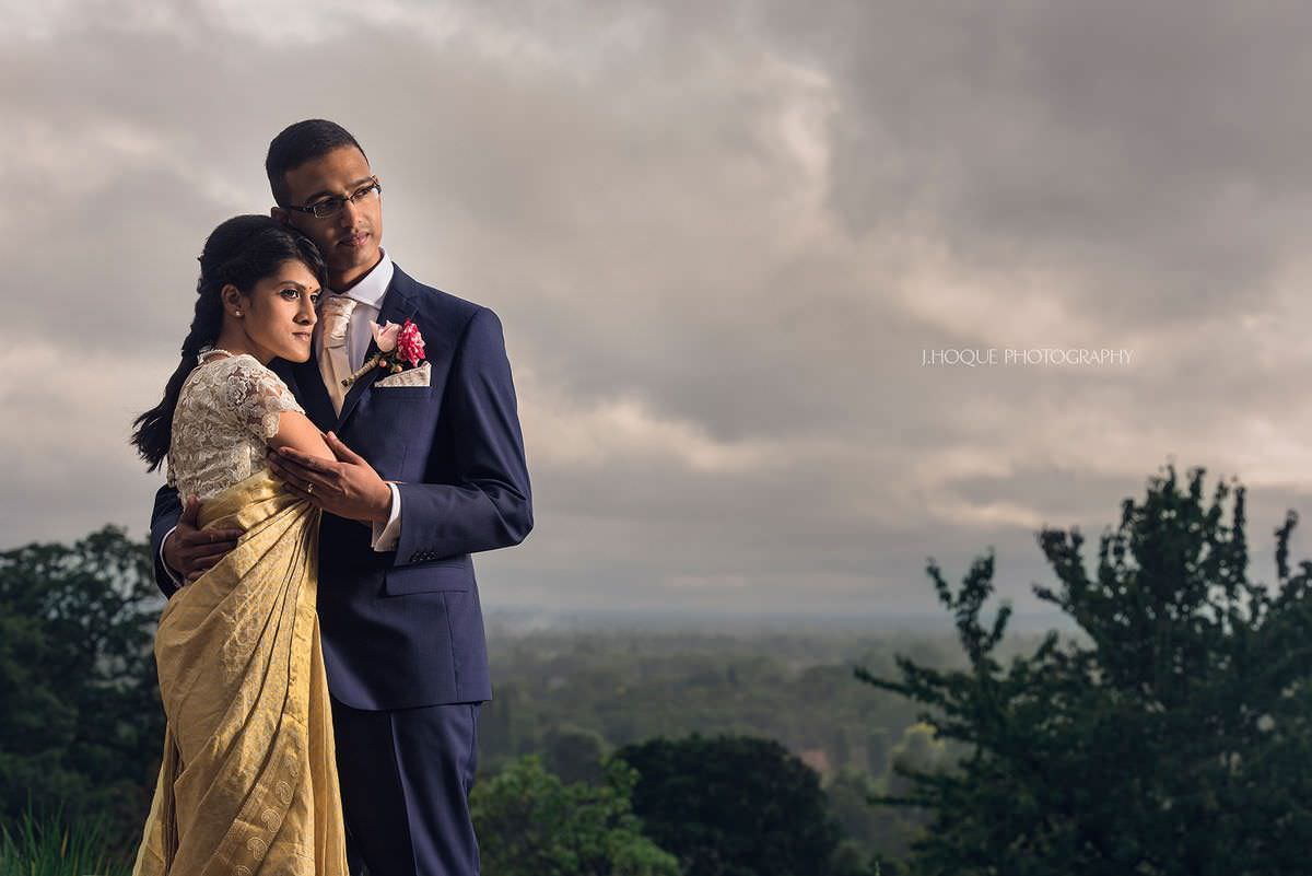 Tamil wedding portrait | Profoto B1 | Surrey Tamil Wedding Photographer Pembroke Lodge | 30