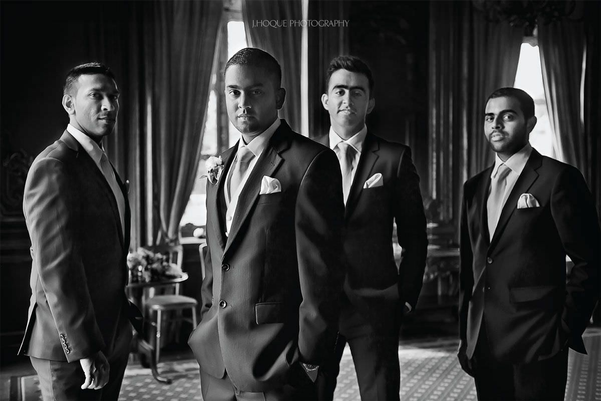 Groomsmen portrait in natural light | Documentary Wedding Photography Berkshire | Cliveden House | BW-21