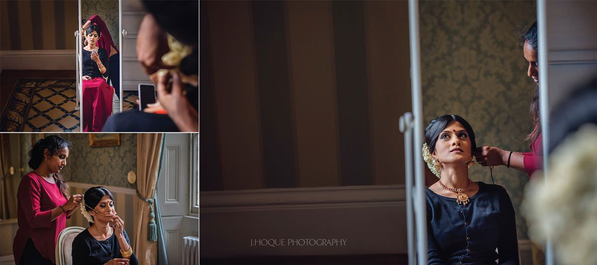 Bride getting ready for Tamil Wedding Ceremony | Hertfordshire Hindu Wedding Photographer | 04