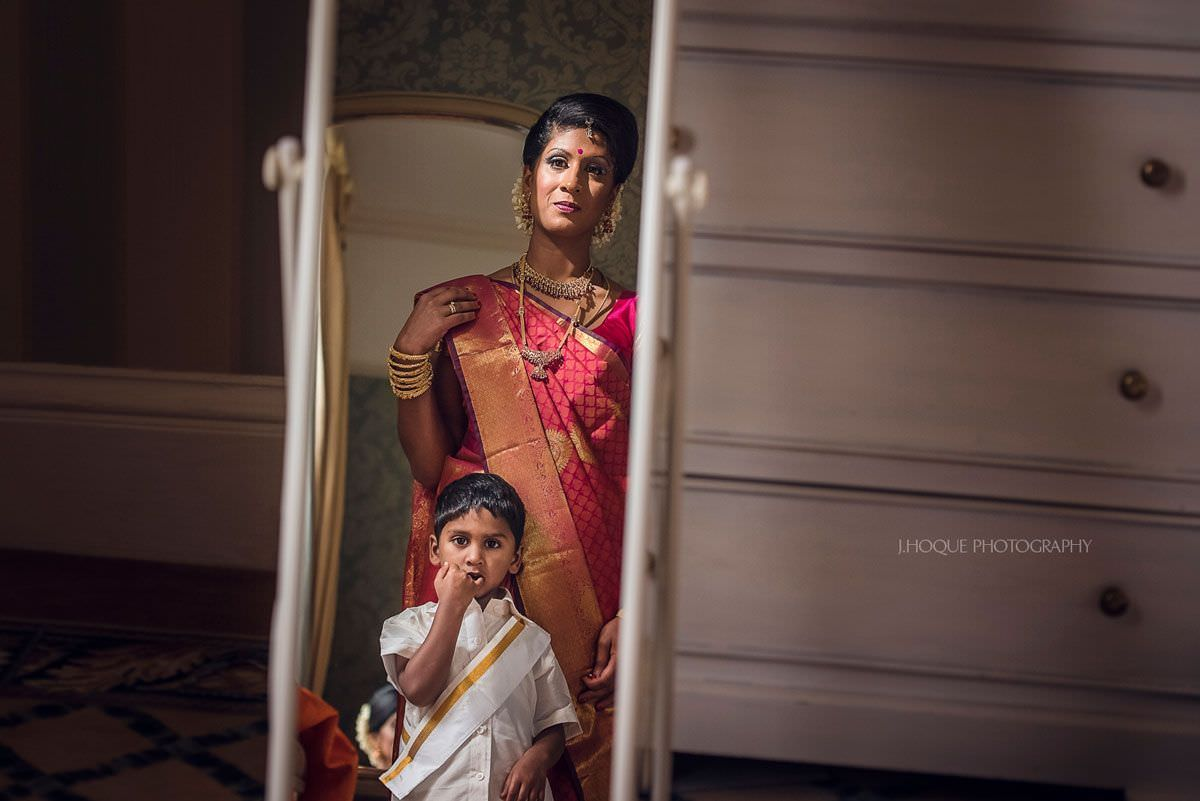 Like mother like son | Shendish Manor Sri Lankan Tamil Wedding Hertfordshire | 12