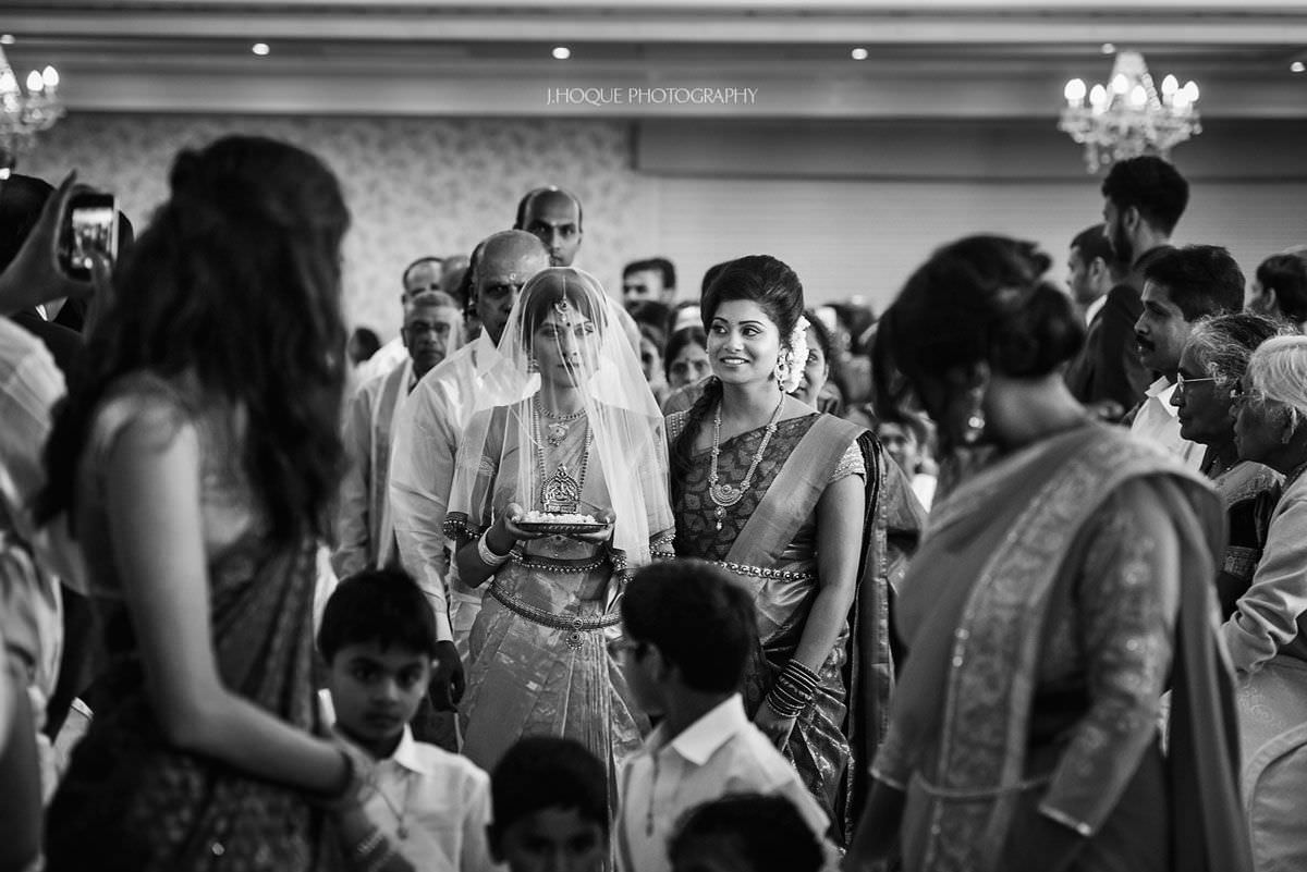 Brides Entrance | Shendish Manor Wedding Apsley Suite | Tamil Hindu Wedding Photography Hertfordshire | 21