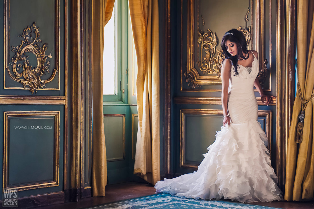 WPS Excellence Award | Bride portrait | Luxury Tamil Wedding at Cliveden House Berkshire