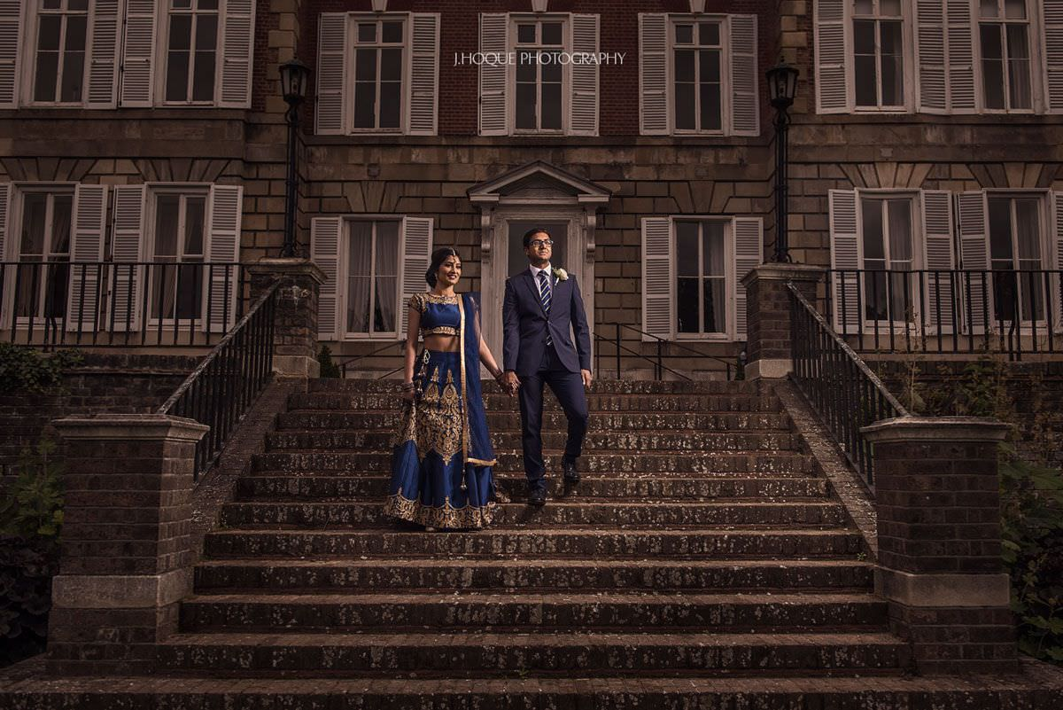Portrait on stairs | Asian Weddings at York House London